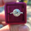 1.19ctw Old European Cut Diamond Halo Ring by A Jaffe 7