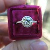 1.19ctw Old European Cut Diamond Halo Ring by A Jaffe 15