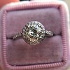1.19ctw Old European Cut Diamond Halo Ring by A Jaffe 13