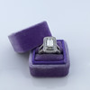 1.85ctw Emerald Cut Diamond Halo Ring 16