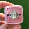 1.85ctw Emerald Cut Diamond Halo Ring 10