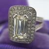 1.85ctw Emerald Cut Diamond Halo Ring 19