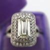 1.85ctw Emerald Cut Diamond Halo Ring 8