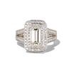 1.85ctw Emerald Cut Diamond Halo Ring 0