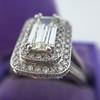 1.85ctw Emerald Cut Diamond Halo Ring 17