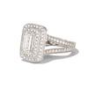 1.85ctw Emerald Cut Diamond Halo Ring 1