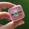 1.85ctw Emerald Cut Diamond Halo Ring 12