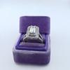 1.85ctw Emerald Cut Diamond Halo Ring 15