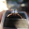 1.28ct Antique Cushion Cut Rose Gold Solitaire GIA K SI2 10