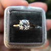 1.28ct Antique Cushion Cut Rose Gold Solitaire GIA K SI2 12