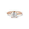 1.28ct Antique Cushion Cut Rose Gold Solitaire GIA K SI2 0