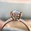 1.28ct Antique Cushion Cut Rose Gold Solitaire GIA K SI2 6