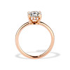 1.28ct Antique Cushion Cut Rose Gold Solitaire GIA K SI2 3