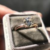 1.28ct Antique Cushion Cut Rose Gold Solitaire GIA K SI2 9