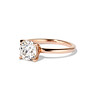 1.28ct Antique Cushion Cut Rose Gold Solitaire GIA K SI2 1