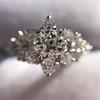 1.29ctw Old European Cut Diamond Fancy Ring 4