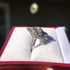 1.32ctw Old European Cut Diamond Floral Halo Ring 34