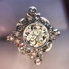 1.32ctw Old European Cut Diamond Floral Halo Ring 40