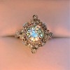 1.32ctw Old European Cut Diamond Floral Halo Ring 9