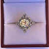 1.32ctw Old European Cut Diamond Floral Halo Ring 19