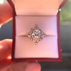 1.32ctw Old European Cut Diamond Floral Halo Ring 51