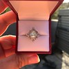 1.32ctw Old European Cut Diamond Floral Halo Ring 48