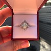 1.32ctw Old European Cut Diamond Floral Halo Ring