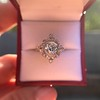 1.32ctw Old European Cut Diamond Floral Halo Ring 52