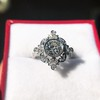 1.32ctw Old European Cut Diamond Floral Halo Ring 31