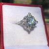 1.32ctw Old European Cut Diamond Floral Halo Ring 6