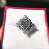 1.32ctw Old European Cut Diamond Floral Halo Ring 32