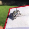 1.32ctw Old European Cut Diamond Floral Halo Ring 29