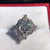 1.32ctw Old European Cut Diamond Floral Halo Ring 18