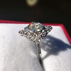 1.32ctw Old European Cut Diamond Floral Halo Ring 11
