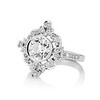 1.32ctw Old European Cut Diamond Floral Halo Ring 1
