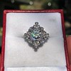 1.32ctw Old European Cut Diamond Floral Halo Ring 25