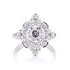 1.32ctw Old European Cut Diamond Floral Halo Ring 0