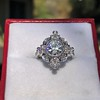 1.32ctw Old European Cut Diamond Floral Halo Ring 24