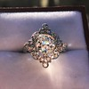1.32ctw Old European Cut Diamond Floral Halo Ring 17
