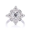 1.32ctw Old European Cut Diamond Floral Halo Ring 5