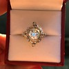 1.32ctw Old European Cut Diamond Floral Halo Ring 21