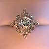 1.32ctw Old European Cut Diamond Floral Halo Ring 13