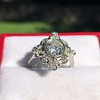 1.32ctw Old European Cut Diamond Floral Halo Ring 27