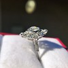 1.32ctw Old European Cut Diamond Floral Halo Ring 35