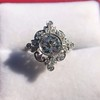 1.32ctw Old European Cut Diamond Floral Halo Ring 30