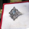 1.32ctw Old European Cut Diamond Floral Halo Ring 10