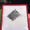 1.32ctw Old European Cut Diamond Floral Halo Ring 26