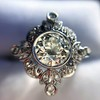 1.32ctw Old European Cut Diamond Floral Halo Ring 14