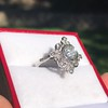 1.32ctw Old European Cut Diamond Floral Halo Ring 28