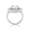 1.32ctw Old European Cut Diamond Floral Halo Ring 2